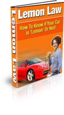 Product picture Car Lemon Law